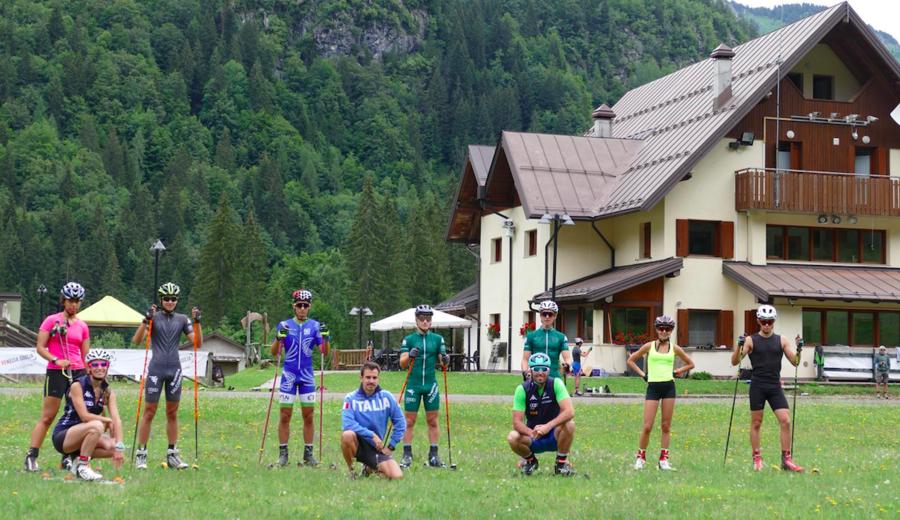 Skiroll - A Forni Avoltri sette giovani azzurri al lavoro con la nazionale