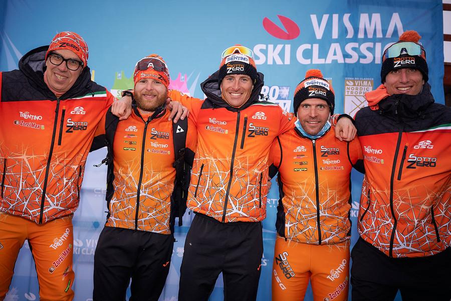 Gran fondo - Chiuso il Pro Tour del Visma Ski Classics, la soddisfazione di SottoZero Trentino Team Zorzi Max