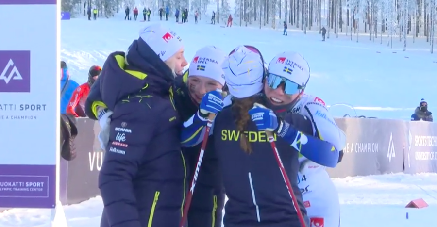 Fondo - Mondiali Juniores: la Svezia vince la staffetta con il brivido finale