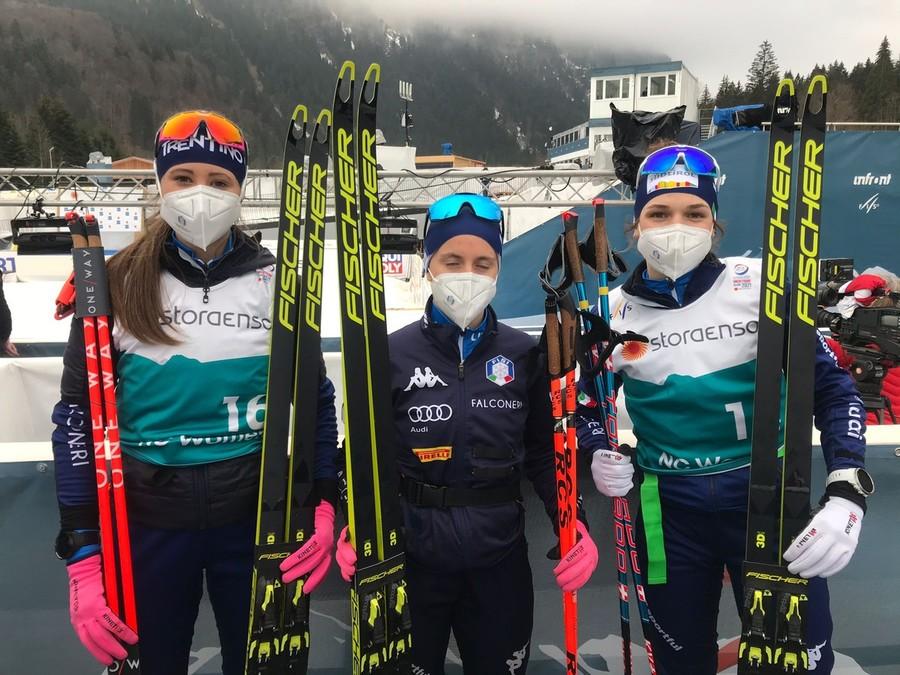 """Oberstdorf 2021 - Sieff, Dejori e Prinoth dopo la prima della combinata nordica femminile: """"Che bello essere qui"""""""