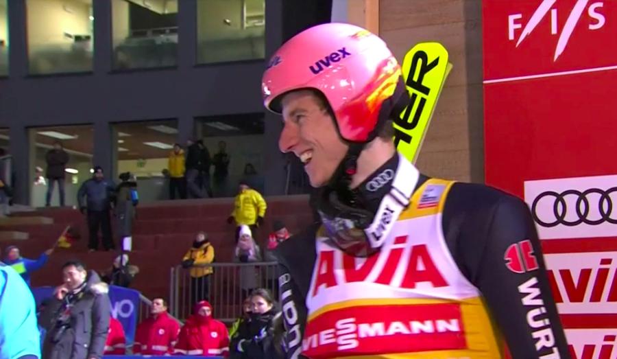 Salto - A Predazzo vince ancora Karl Geiger davanti a Kraft e Kubacki