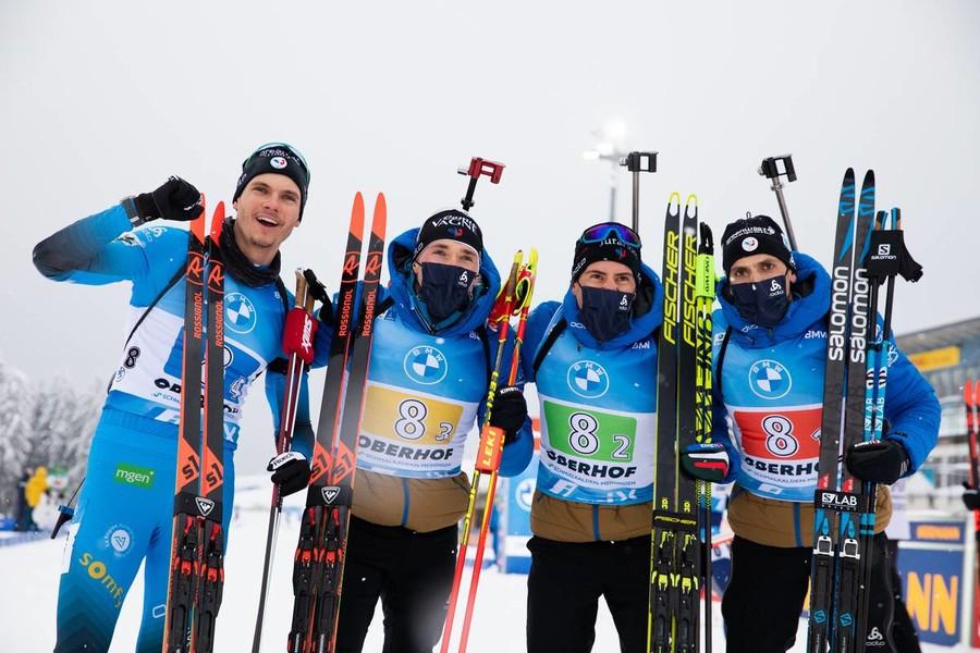 Il team francese - Foto IBU - Manzoni