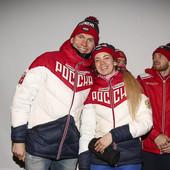 Alexander Bolshunov con la compagna Anna Zherebyateva