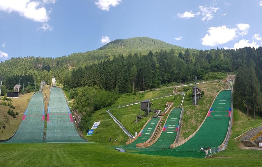 (Trampolino Predazzo - pagina fb Predazzo Ski Jumping)