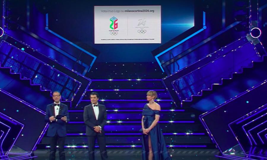Olimpiadi Milano-Cortina 2026 - A Sanremo, Tomba e Pellegrini lanciano il sondaggio per il logo dei Giochi