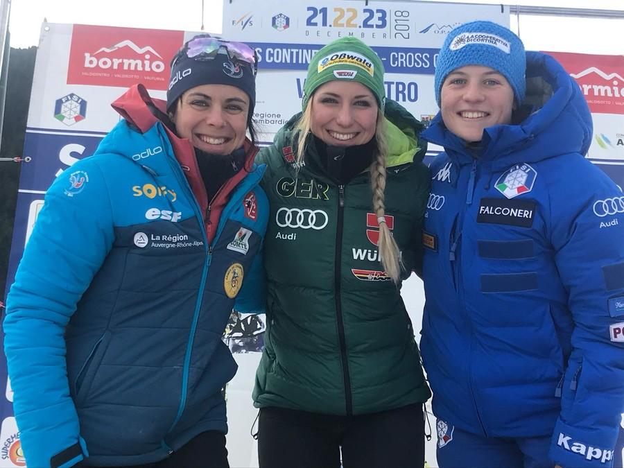 Fondo - OPA Cup femminile: Fräbel vince in volata, un'ottima Comarella è terza