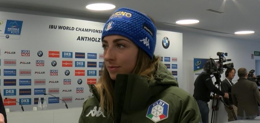 """VIDEO, Biathlon - Lisa Vittozzi: """"Non lottare per la Coppa del Mondo può avvantaggiarmi in questo Mondiale"""""""