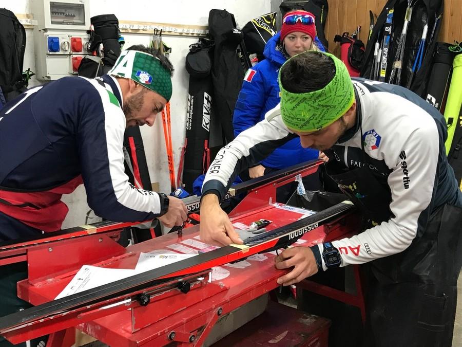 """FOTOGALLERY, Fondo - Guarda gli skiman al lavoro: """"Che soddisfazione quando gli atleti sono contenti!"""""""
