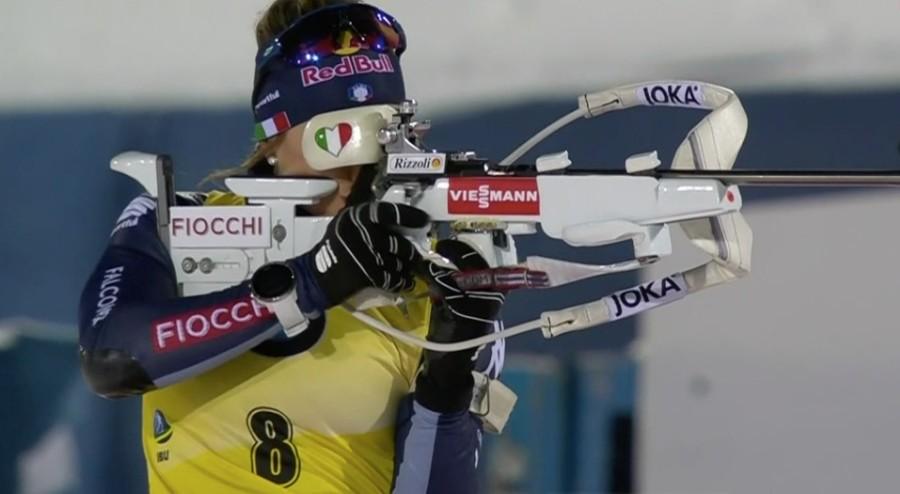 Dorothea Wierer al poligono di Östersund