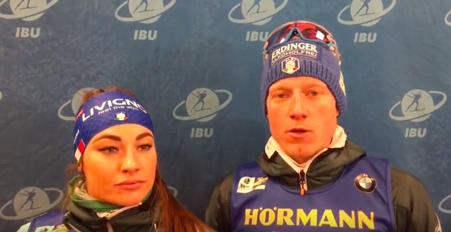 Dorothea Wierer e Lukas Hofer intervistati da FISI TV
