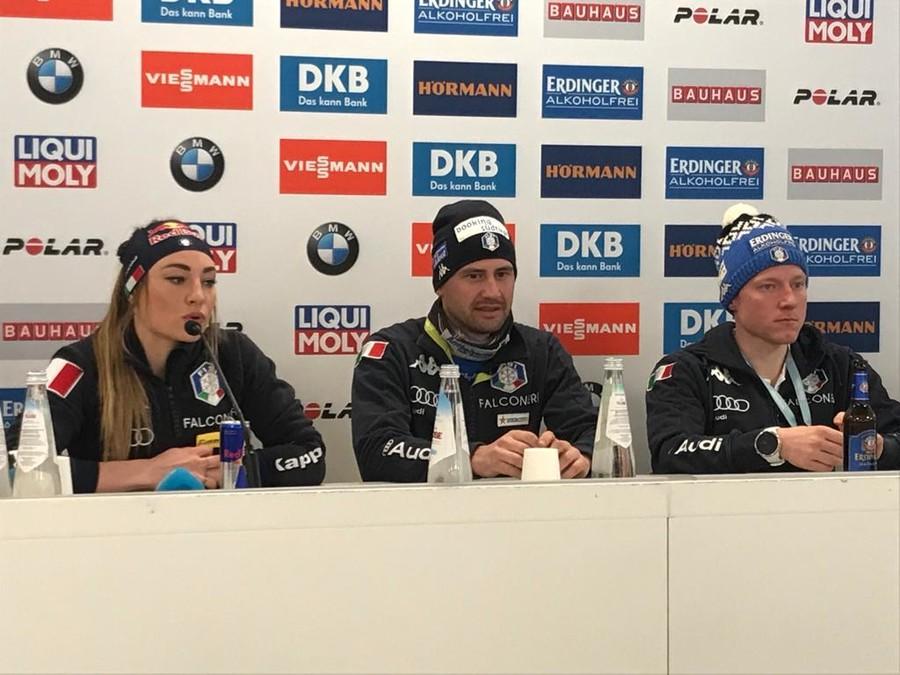 Biathlon - Bormolini, Hofer e Windisch celebrano il successo di Dorothea Wierer
