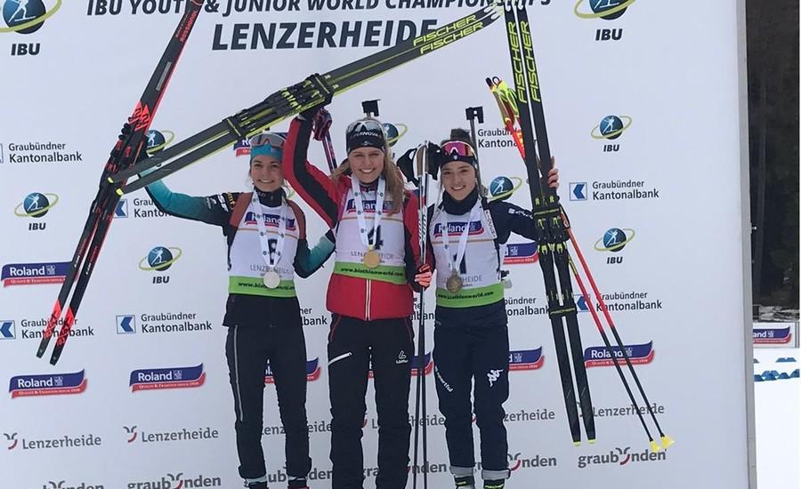Linda Zingerle festeggia un'altra medaglia a Lenzerheide